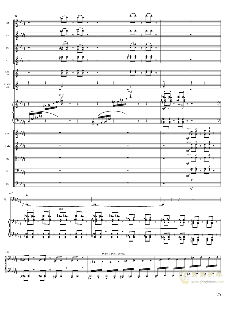 柴可夫斯基钢琴第一协奏曲钢琴谱 第25页