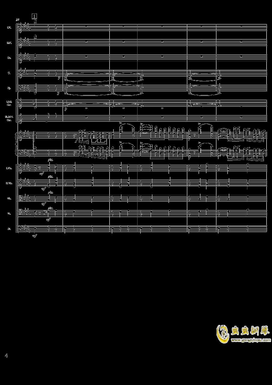 柴可夫斯基钢琴第一协奏曲钢琴谱 第4页