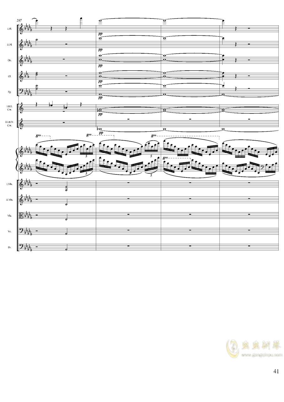 柴可夫斯基钢琴第一协奏曲钢琴谱 第41页