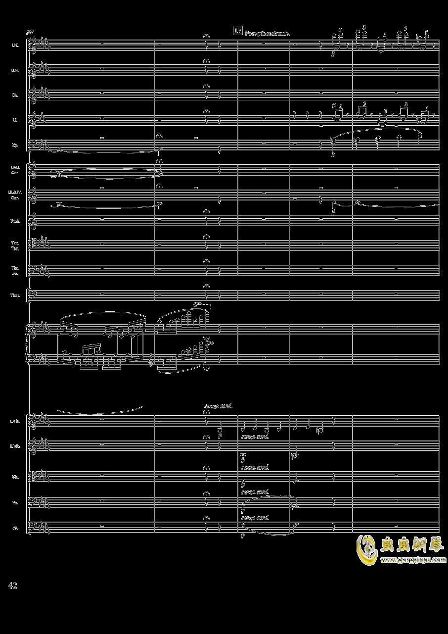 柴可夫斯基钢琴第一协奏曲钢琴谱 第42页