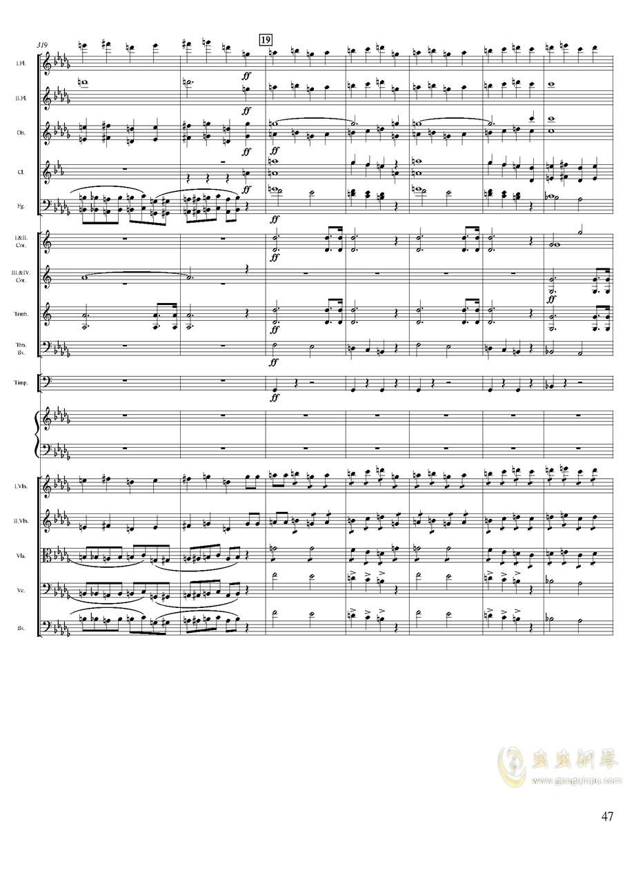 柴可夫斯基钢琴第一协奏曲钢琴谱 第47页