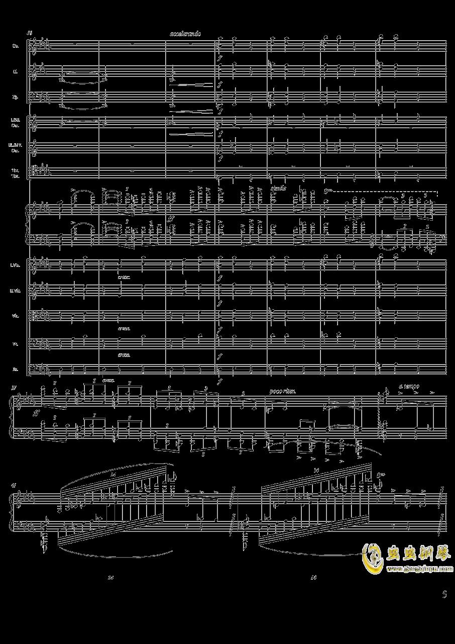 柴可夫斯基钢琴第一协奏曲钢琴谱 第5页