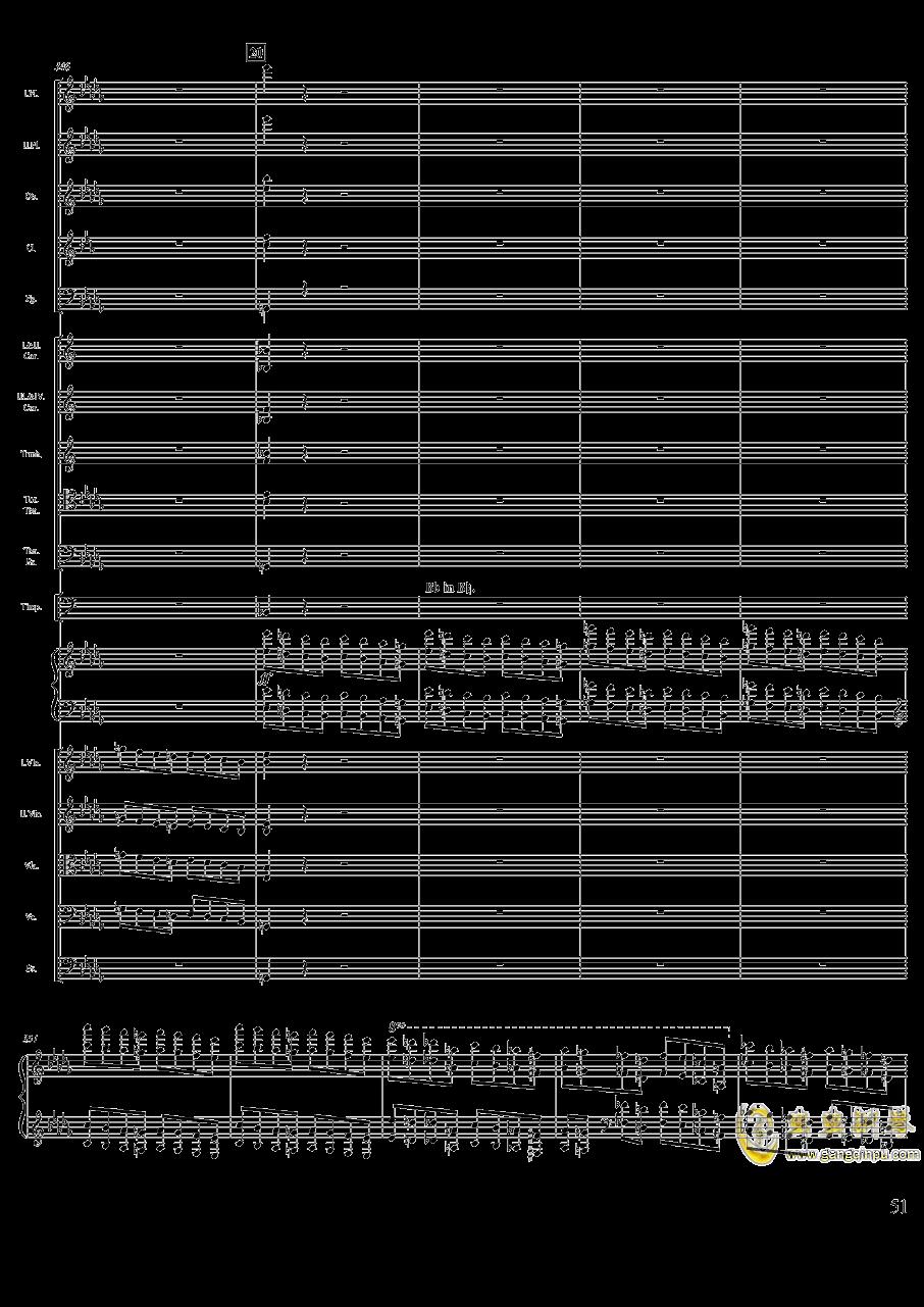 柴可夫斯基钢琴第一协奏曲钢琴谱 第51页