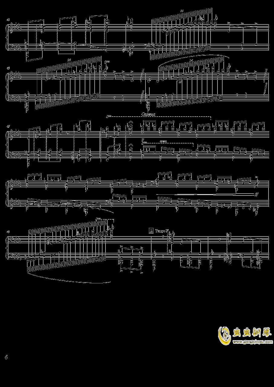 柴可夫斯基钢琴第一协奏曲钢琴谱 第6页