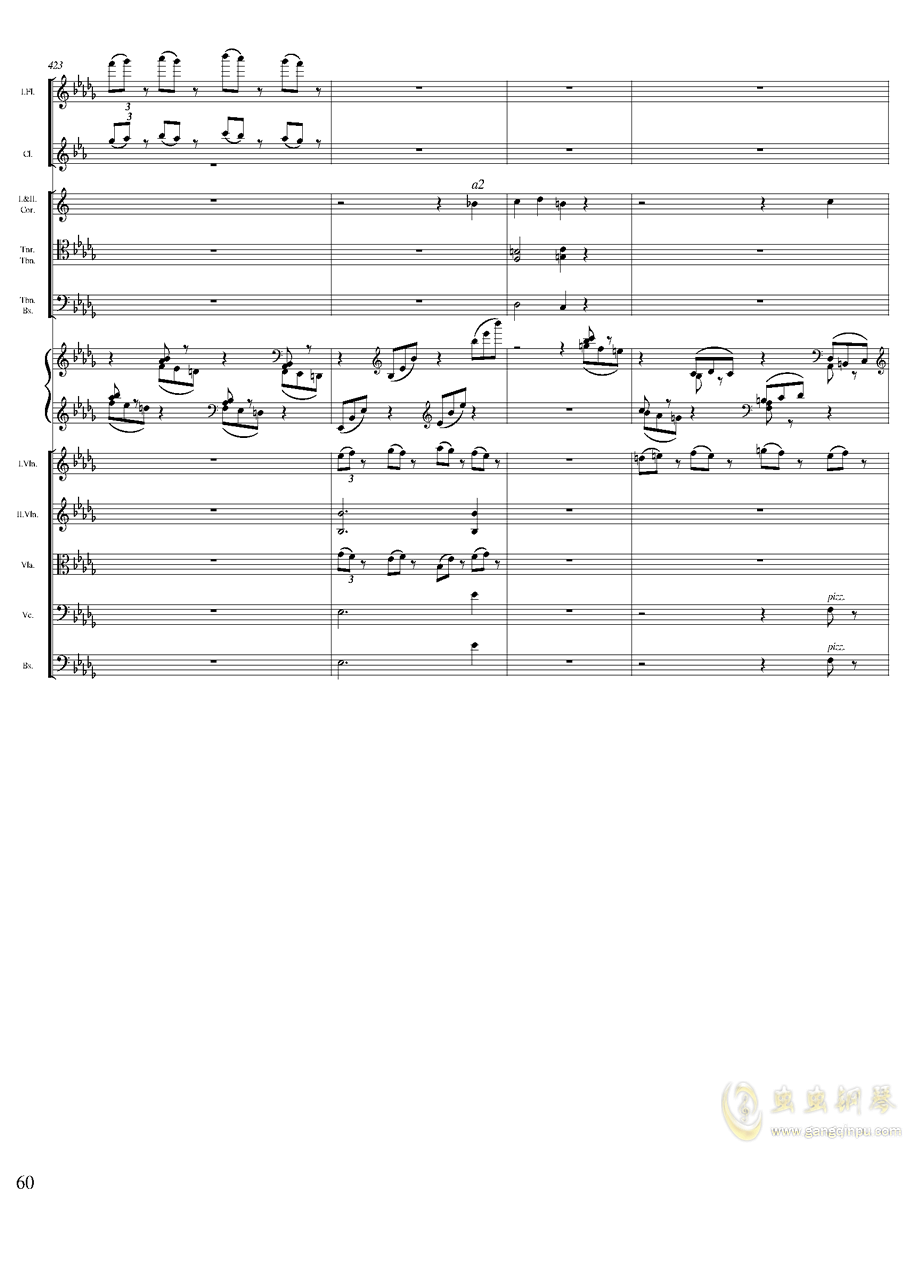 柴可夫斯基钢琴第一协奏曲钢琴谱 第60页