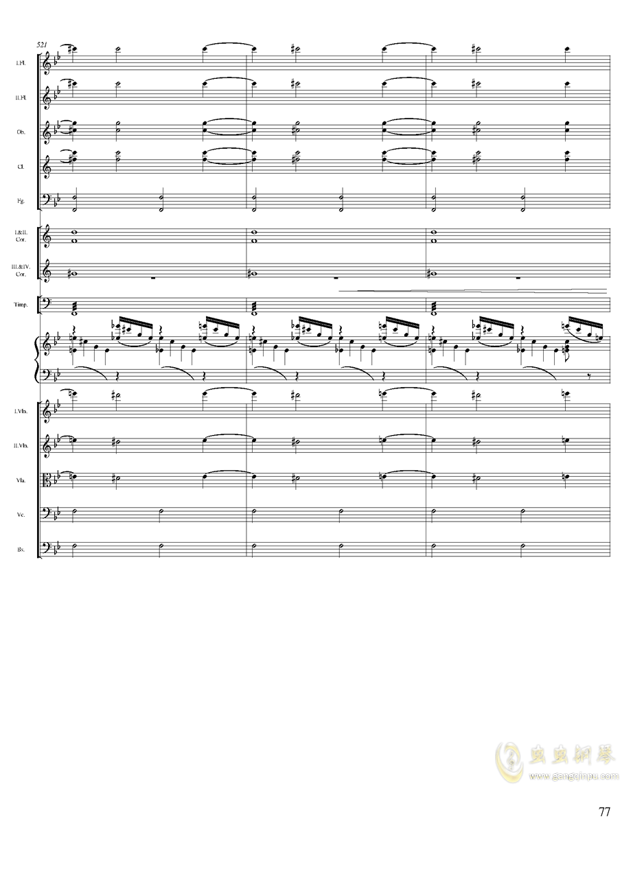 柴可夫斯基钢琴第一协奏曲钢琴谱 第77页