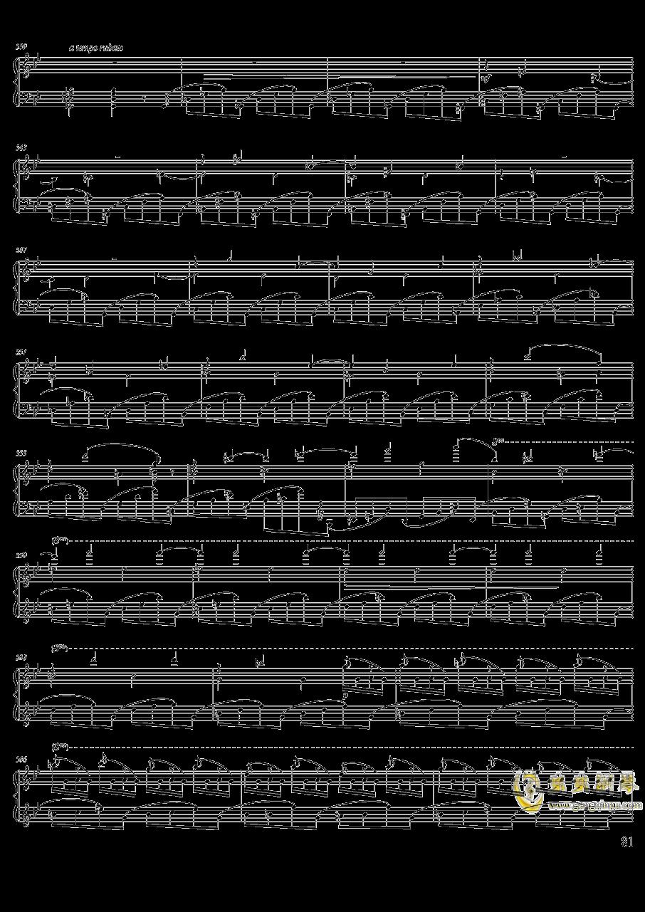 柴可夫斯基钢琴第一协奏曲钢琴谱 第81页