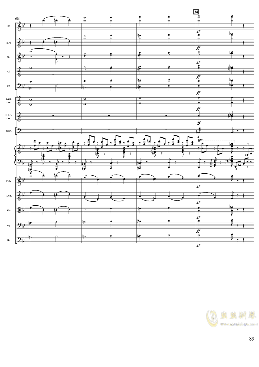 柴可夫斯基钢琴第一协奏曲钢琴谱 第89页