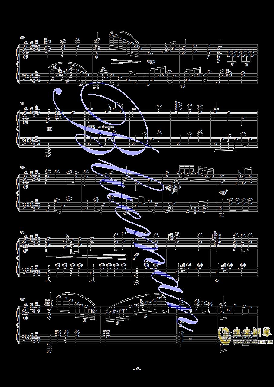 春天的芭蕾钢琴谱 第4页