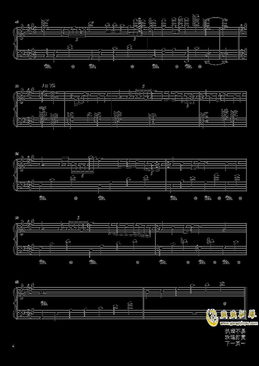 Nocturne钢琴谱 第4页