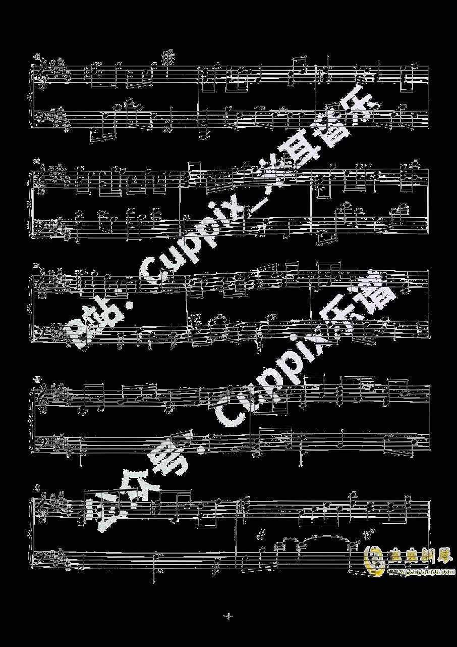 吹梦到西洲钢琴谱 第4页