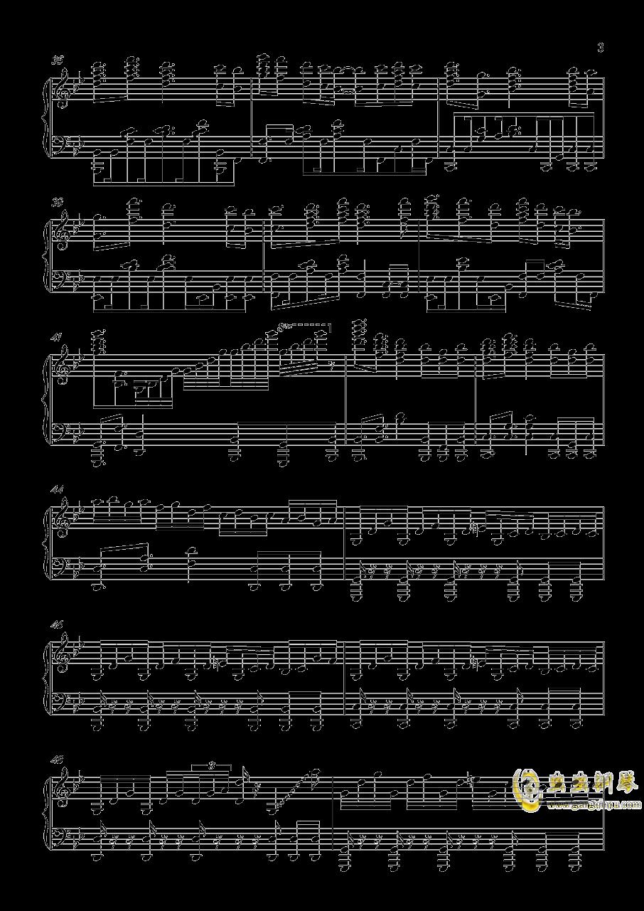 热血无赖钢琴谱 第3页
