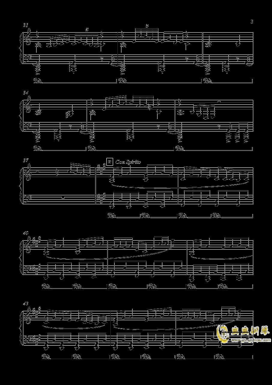 オリエンタルダ�`クフライト 钢琴谱 第3页