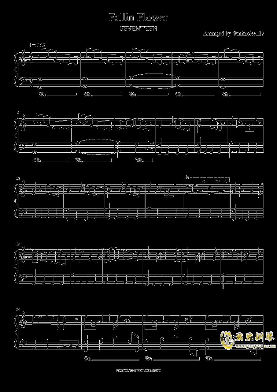 Fallin Flower钢琴谱 第1页