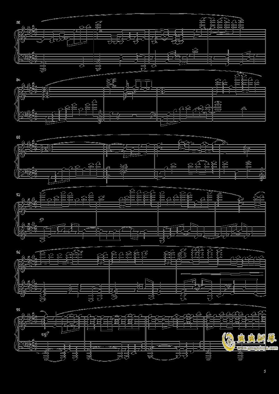 Suzumiya Haruhi no Yuutsu OST钢琴谱 第5页