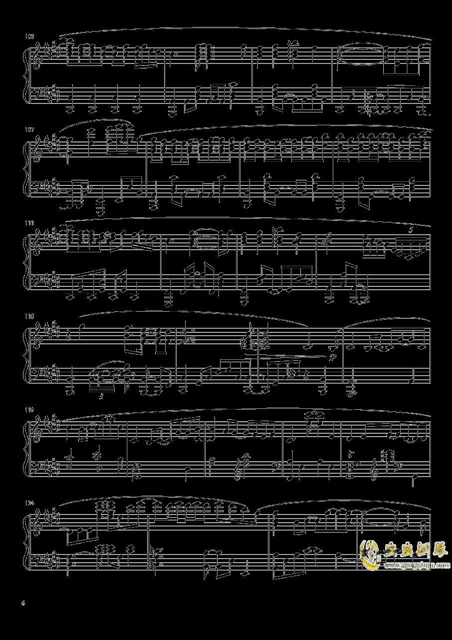 Suzumiya Haruhi no Yuutsu OST钢琴谱 第6页