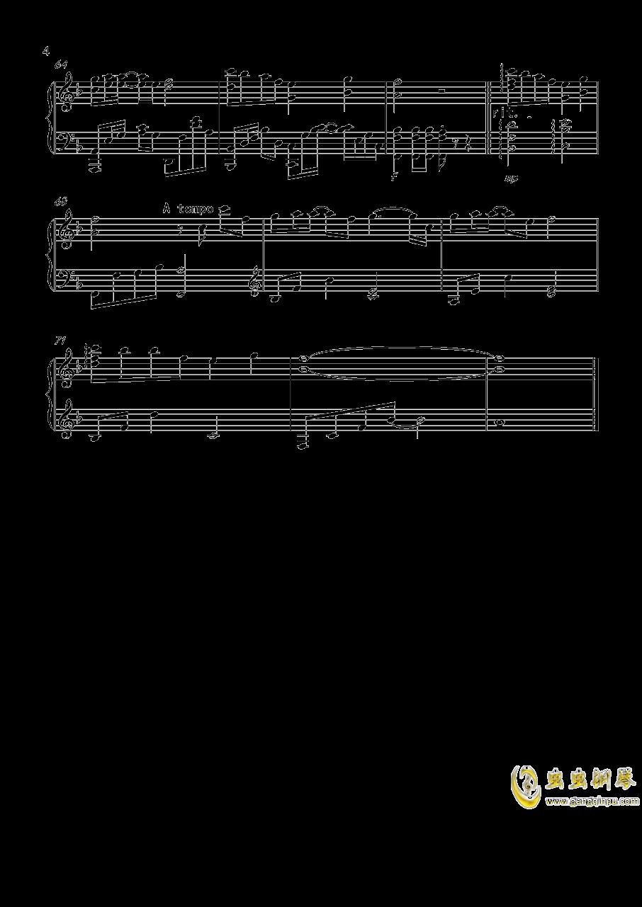 冬眠钢琴谱 第4页