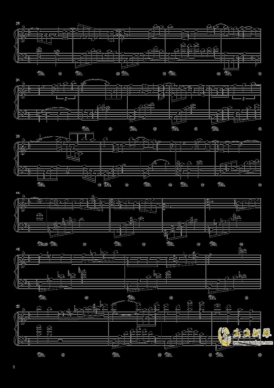 昙花钢琴谱 第2页
