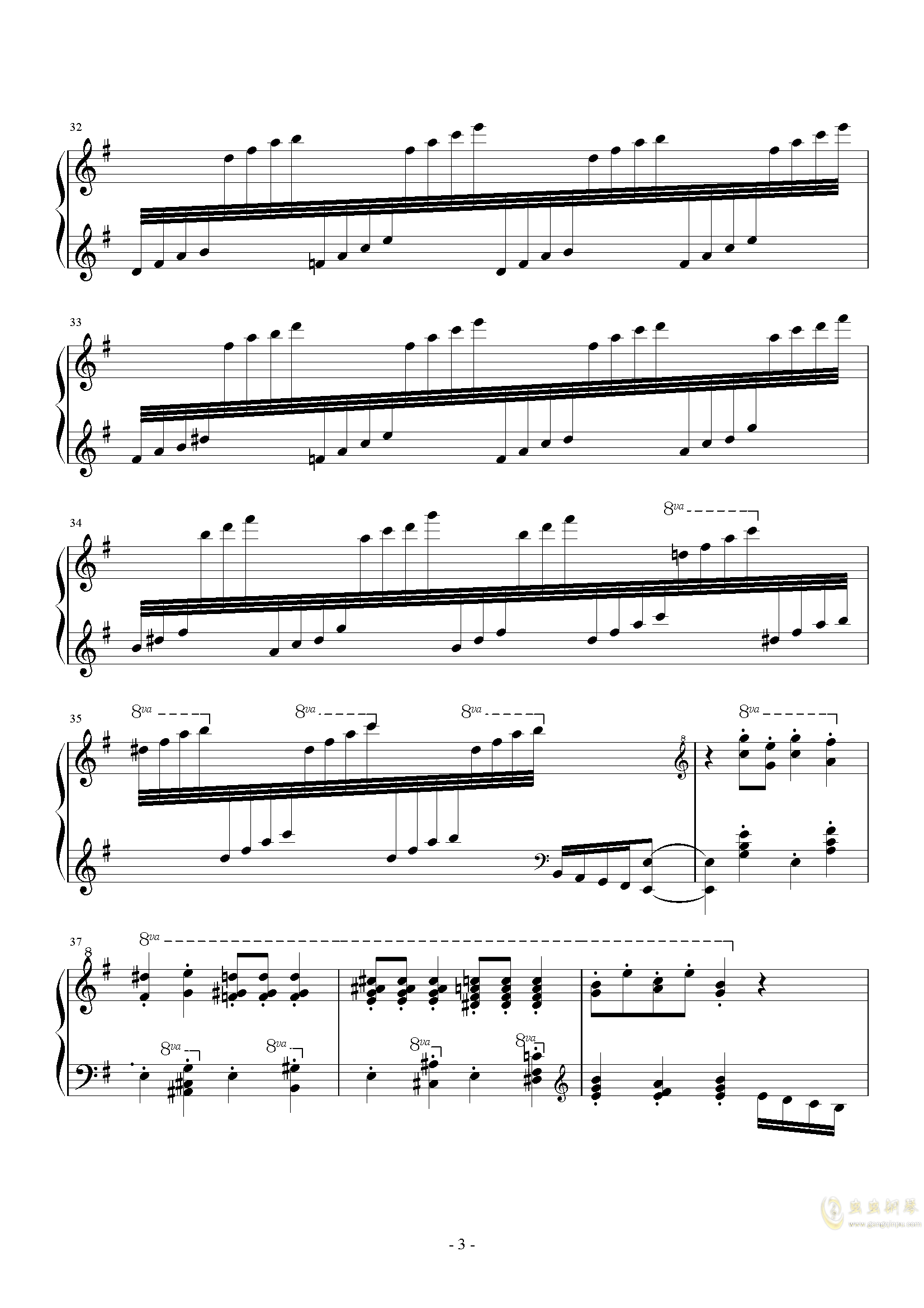Dance of the Sugar Plum Fairy钢琴谱 第3页