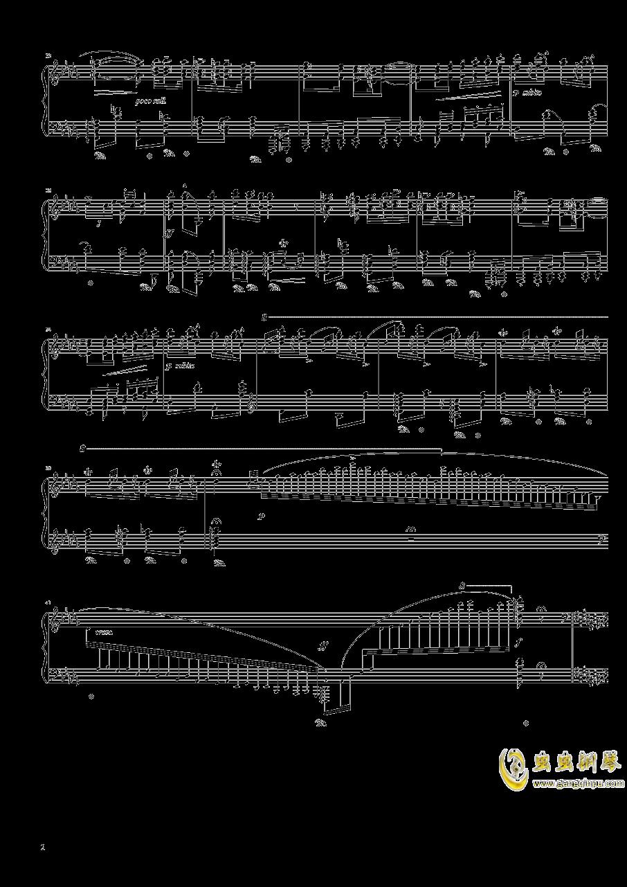 匈牙利狂想曲第六号钢琴谱 第2页