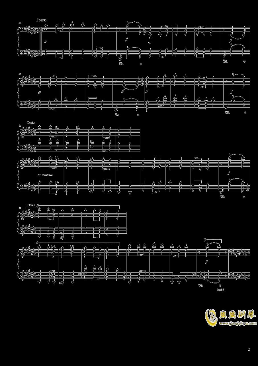 匈牙利狂想曲第六号钢琴谱 第3页