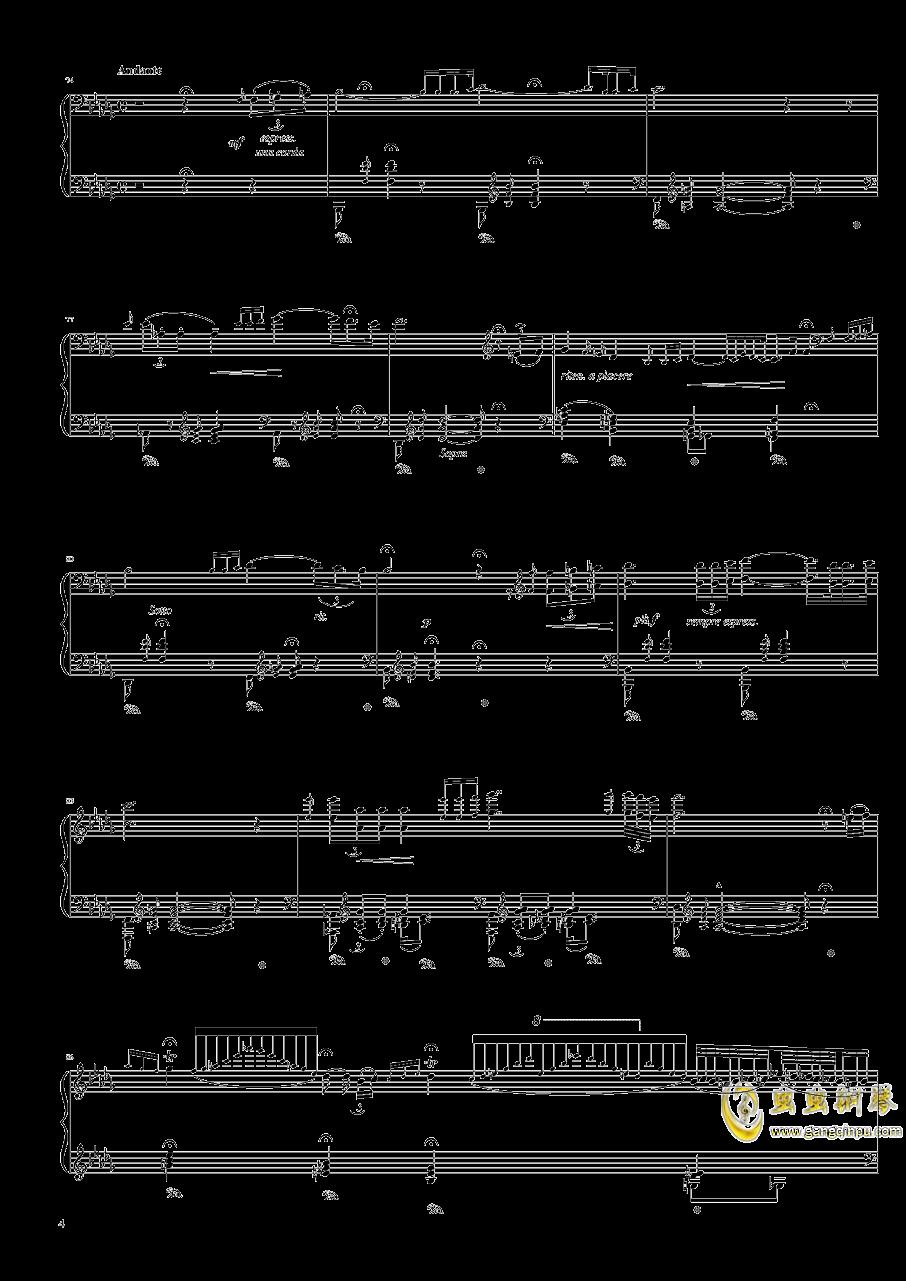 匈牙利狂想曲第六号钢琴谱 第4页