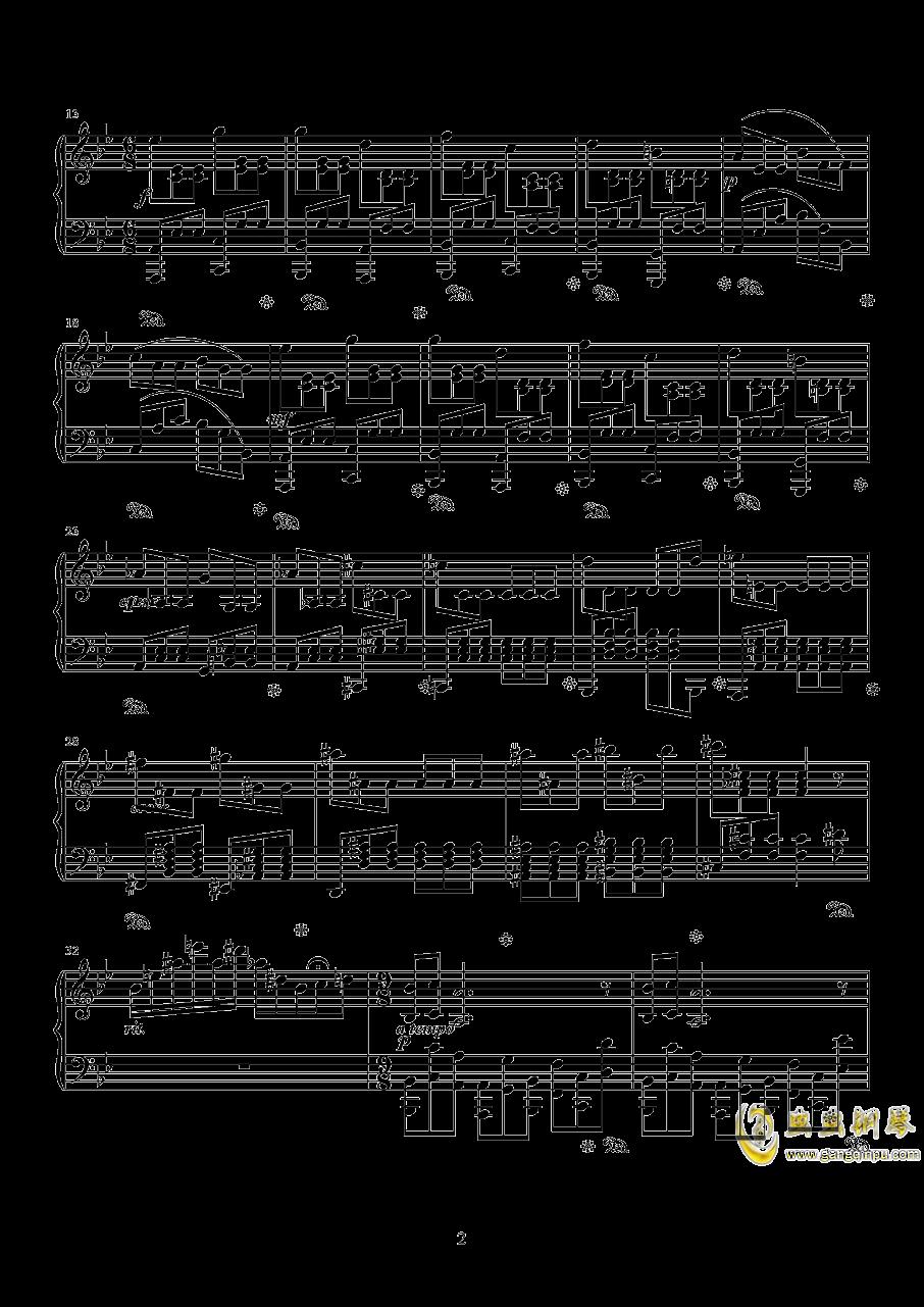 太阳钢琴谱 第2页