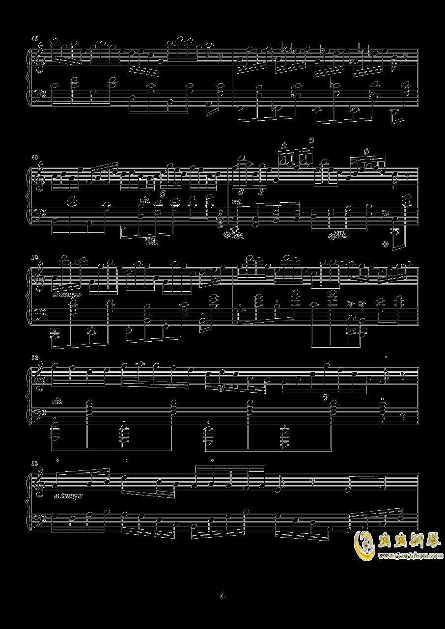 太阳钢琴谱 第4页
